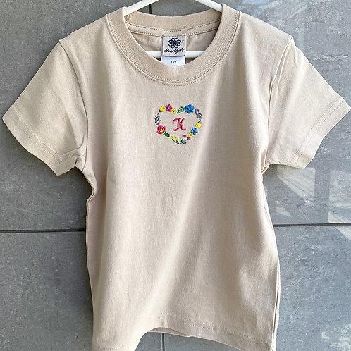 ハートリースTシャツ(ベージュ)