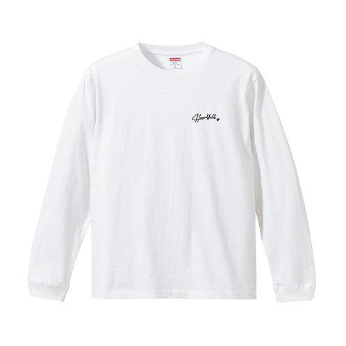 Heartfeltロゴ長袖Tシャツ(ホワイト)