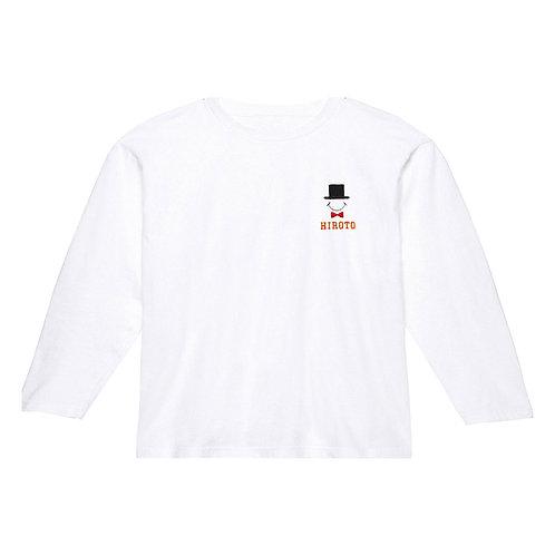 ハットリブあり長袖Tシャツ(ホワイト)