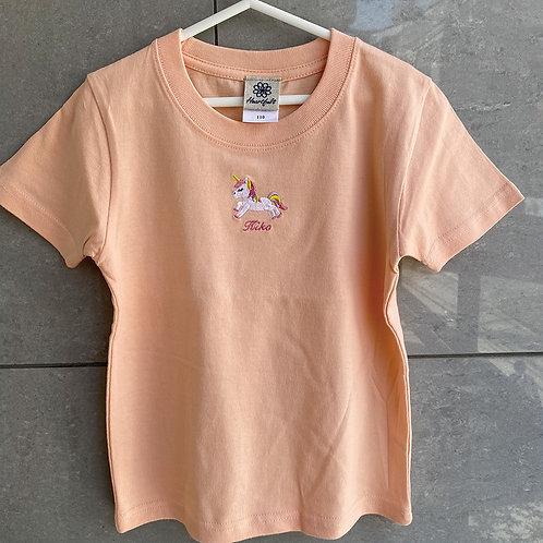 ユニコーンTシャツ(アプリコット)