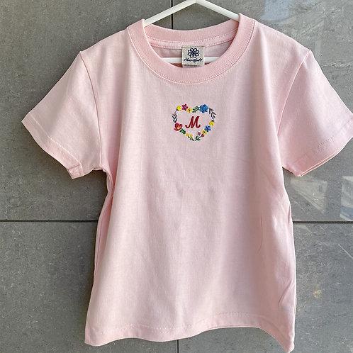 ハートリースTシャツ(ピンク)
