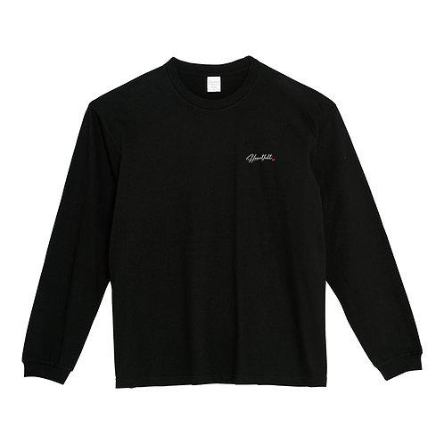 Heartfeltロゴビッグ長袖Tシャツ(ブラック)