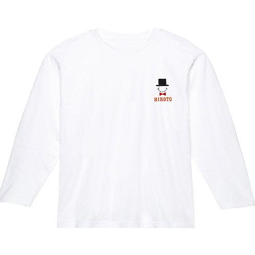 ハットリブなし長袖Tシャツ(ホワイト)