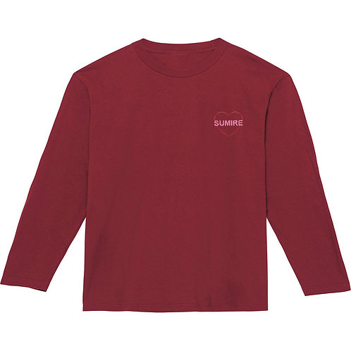ハートリブなし長袖Tシャツ