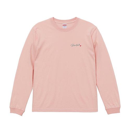 Heartfeltロゴ長袖Tシャツ(オフピンク)