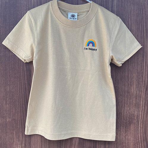 レインボーTシャツ(ベージュ)
