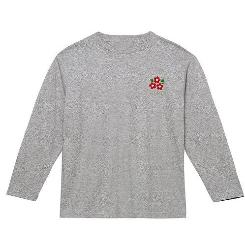 フラワーリブなし長袖Tシャツ