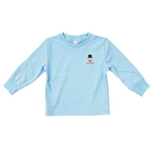 ハットリブあり長袖Tシャツ(ライトブルー)