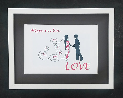 'All you need is LOVE' printed canvas