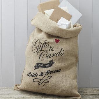 Hessian Burlap Cards Wedding Sack
