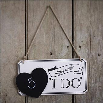 Vintage Wooden Wedding Countdown Chalkboard