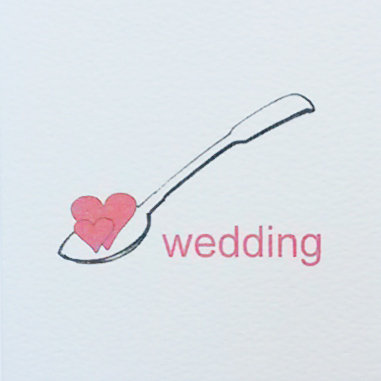Wedding Lovespoon Card Small