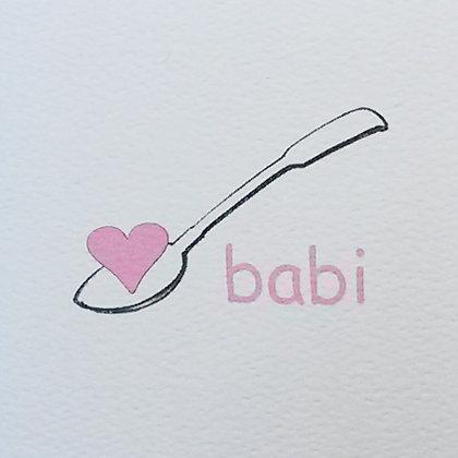 Babi Lovespoon Card Small