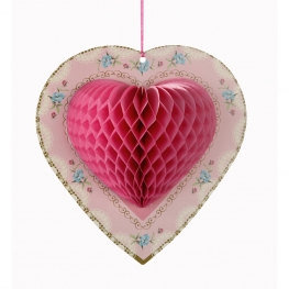 Pack of 3 Honeycomb Hearts