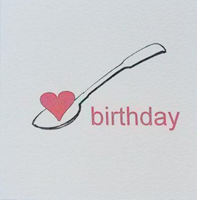 Birthday Lovespoon Card Small