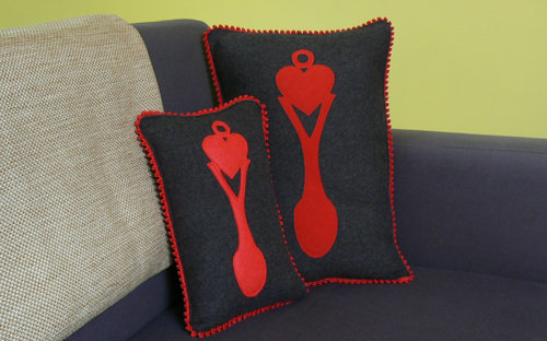 Large Lovespoon cushion