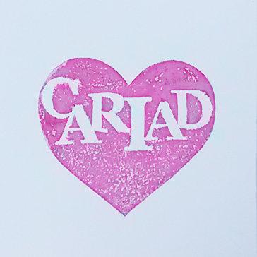 Card - Handmade - Cariad / Love