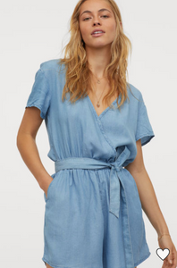 H&M Lyocell Wrap front Playsuit
