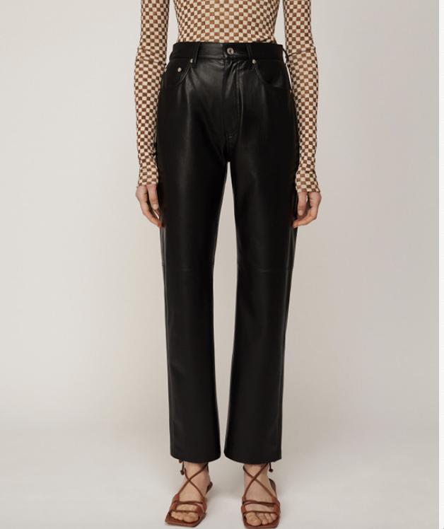 Nanushka Vinni Vegan Leather Pants Black