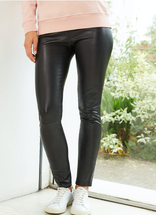 Hush Liv Leather Leggings Caviar Black