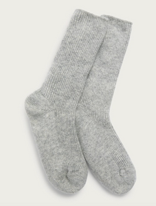 The White Company Cashmere Bed Socks Grey