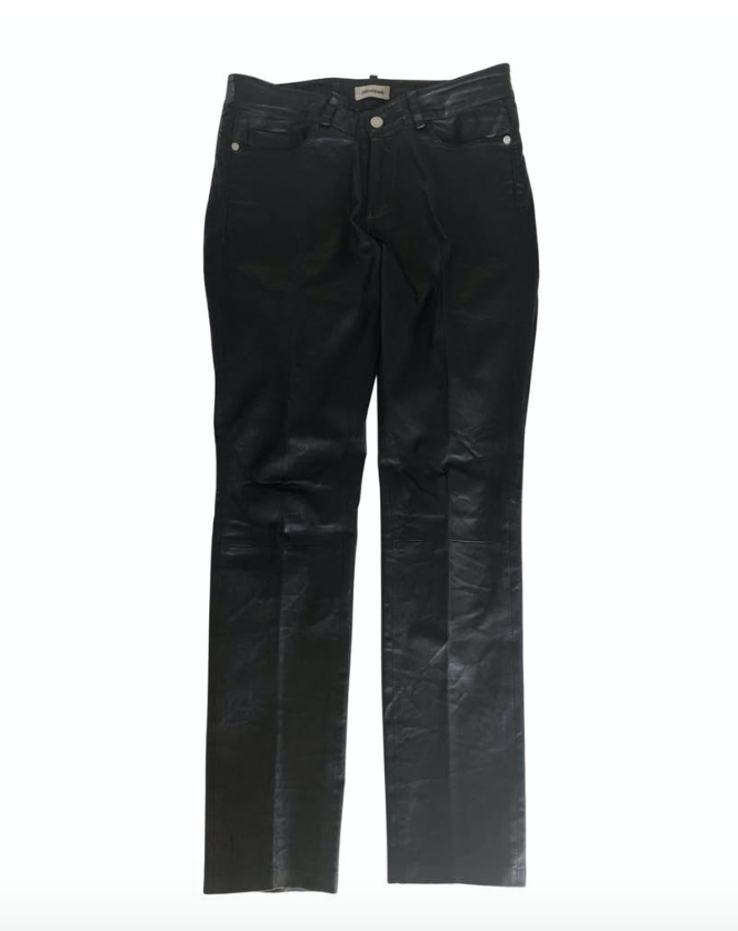Zadig and Voltaire Straight Leg Leather Trouser