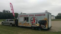 Food Trailer set up at Rothsay