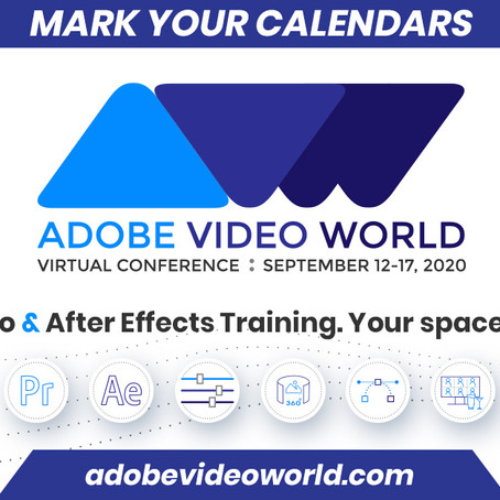 Get 10% Off Your ADOBE VIDEO WORLD Ticket!