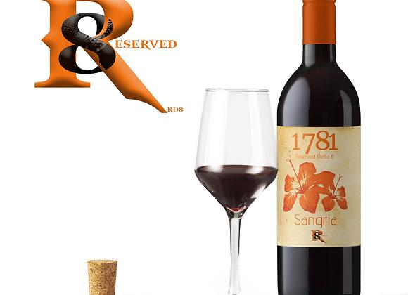 1781 Sangria (750ml DE-ALCOHOLIZED & Non Delta8) CBD 1,000mg