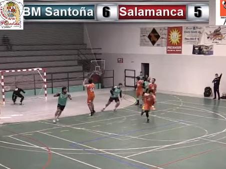 Sufrida victoria del BM Santoña ante Congesa XXI Ciudad de Salamanca 25-21