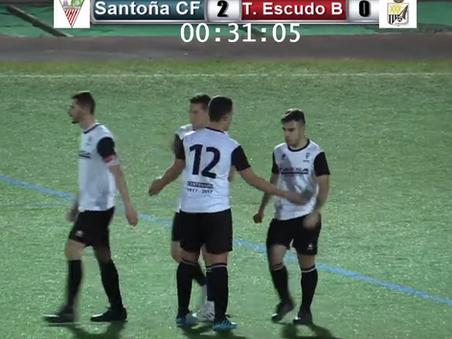 Tres zarpazos en 7 minutos dan los tres puntos al Santoña CF 3-0