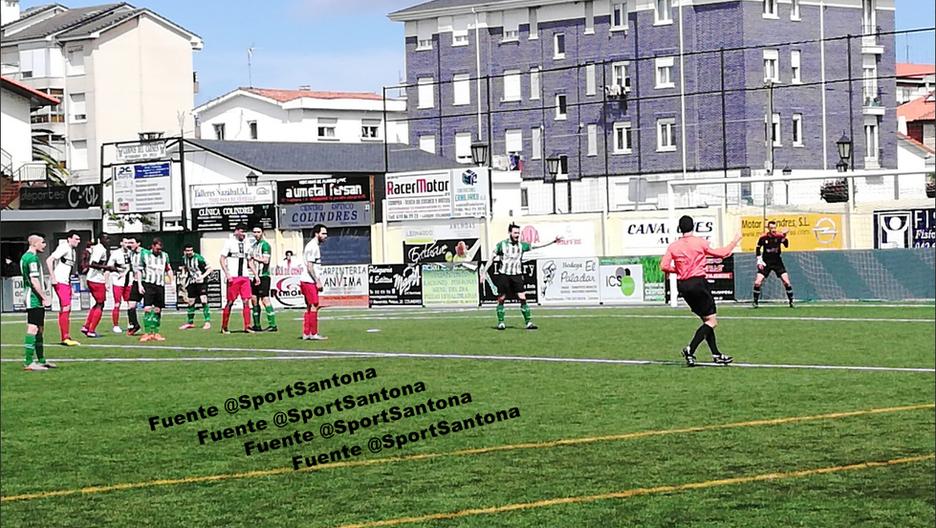 El Santoña CF cumple con el objetivo en Colindres 0-1. Ousmane Diatta 75'