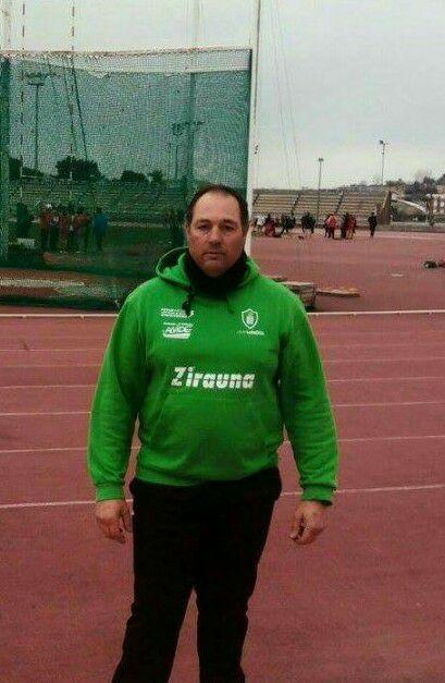 José Garcia Andreu campeón de Cantabria de lanzamiento de martillo
