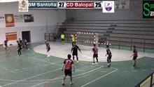 Topetazo del BM Santoña ante el CD Balopal de Palencia 27-28