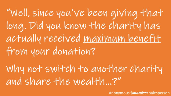 """#81 The """"Maximum Benefit"""" line and how it harms face to face fundraising"""