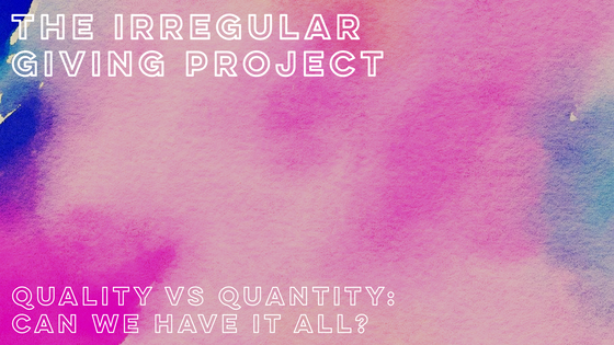 Quantity vs Quality: Can we have it all?