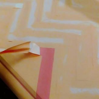 Pintar CHEVRON amb CINTA adhesiva