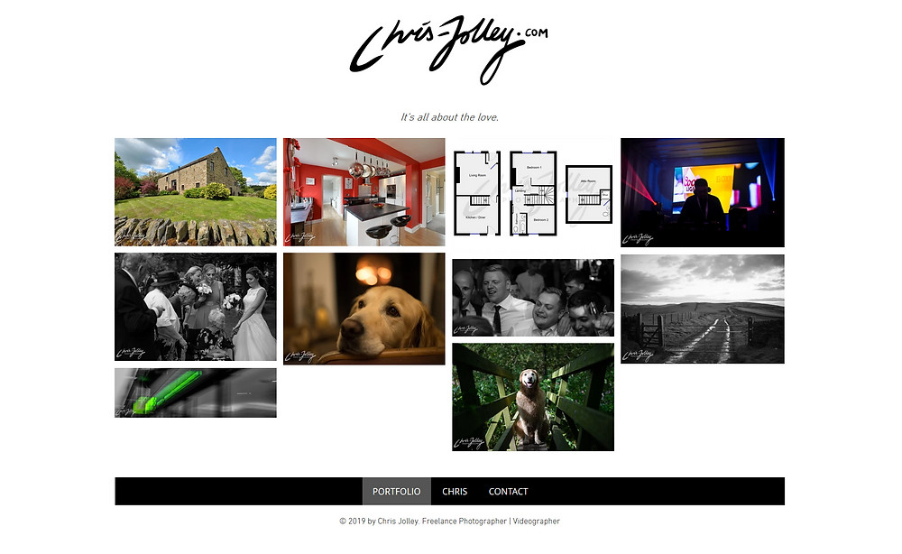 Chris Jolley is a property, commercial, wedding and event photographer