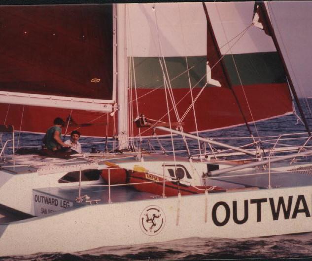 Jones sailing outwardleg on world circum