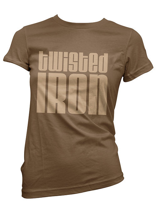 Twisted Iron Women's T-Shirt Large Logo