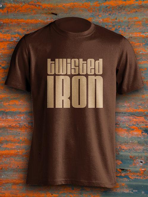 Twisted Iron Men's T-Shirt Large Logo