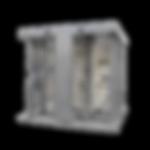 Torniquete Doble / Cuerpo Completo / Interior/Exterior / 100% Acero con Pintura Gris / EJE CENTRAL de Acero Inoxidable / Acabado de Lujo / Alto Tráfico