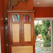 Fishtown Kitchen Cabinet in Cherry & Curly Maple