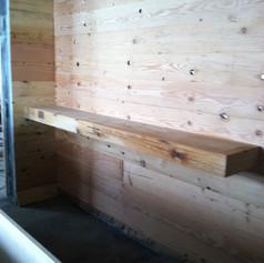 Reclaimed Pine Restaraunt Wall