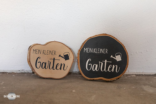 Holzscheibe - Kleiner Garten