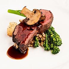 Ribeye Steak & Barley Risotto