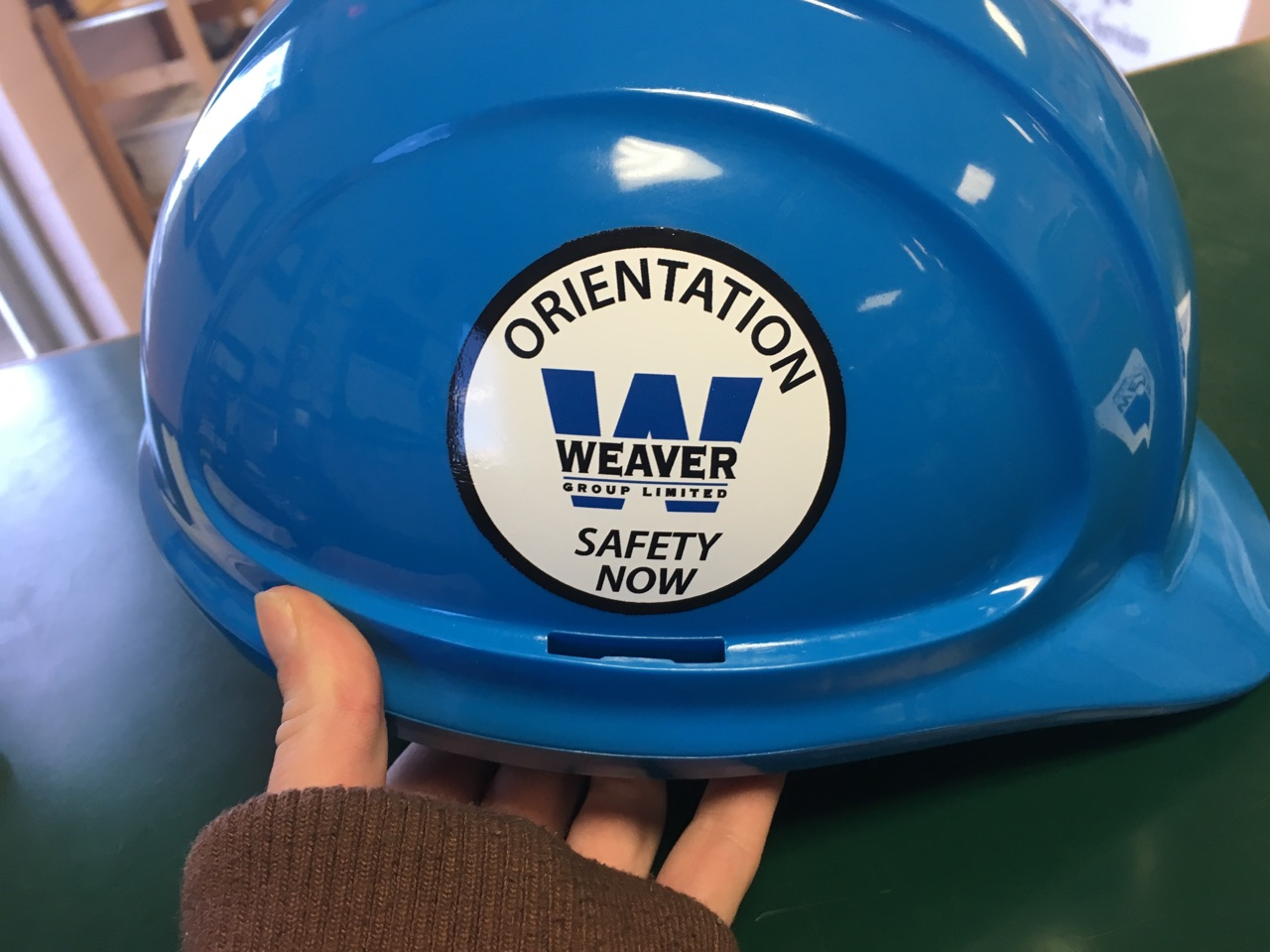 Custom Vinyl Hardhat Graphic