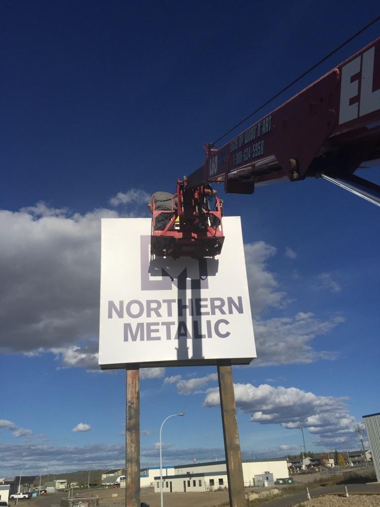 Installing Pylon Sign