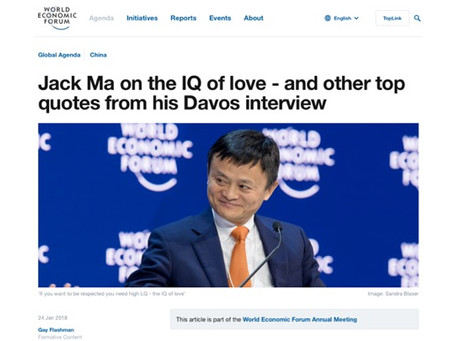 In Davos, Alibaba founder and Executive Chairman Jack Ma spoke about some of the key challenges.