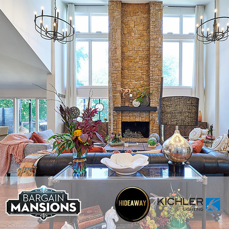 Hideaway Screens and Kichler Lighting on HGTV Bargain Mansions